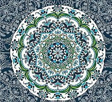Magic mandala with blue color by Fodorviola73