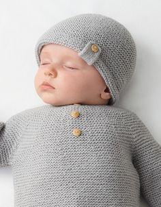 Crochet Baby Sweaters, Baby Sweater Knitting Pattern, Baby Boy Knitting, Knitted Baby Clothes, Knitting For Kids, Baby Knitting Patterns, Baby Patterns, Knitted Hats, Crochet Hats
