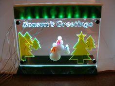 Season's Greetings Light LED lit  decoration by MLSLaserEngraving