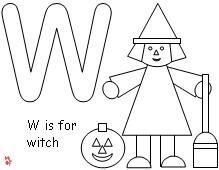 Witch Coloring Page  from Making Learning Fun.