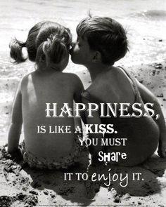 Share it to enjoy it :) #Happiness #kiss #enjoy