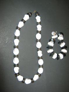 Vintage chunky necklace bracelet set