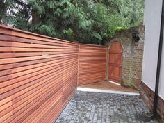 Sitting on the fence when it comes to deciding if Cedar Fencing is for you? Here you can find our previous bits of work in our Gallery. Slatted Fence Panels, Contemporary Fencing, Sitting On The Fence, Garden Design, House Design, Cedar Fence, Derbyshire, Garden Spaces, Things To Come