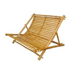 Double bamboo deck chair