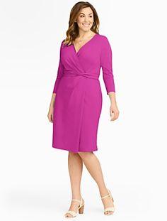 Talbots - Faux-Wrap Knit Dress | Dresses | Woman