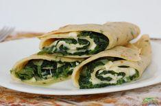 Palačinky se špenátem a mozzarellou Spanakopita, Fresh Rolls, Mozzarella, Sushi, Healthy Recipes, Healthy Food, Ethnic Recipes, Healthy Foods, Healthy Eating Recipes