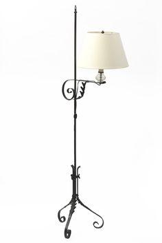 Wrought Iron Colonial Style Bridge Lamp