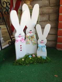 Wood Bunny Rabbits,  Go Ahead & Craft