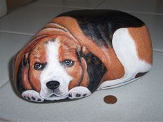 I sassi di Isa - sassi dipinti - cani...amazing Beagle painted stone!!