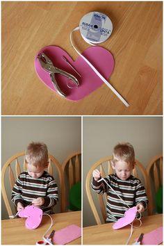 Valentine Hearts Decoration Crafts - Valentine Card Craft Projects For Kids | Vanilla Joy