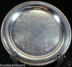 10 in. Round Silver Plate Serving Platter Silverplate…