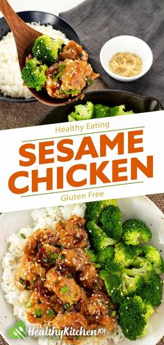 Healthy Sesame Chicken Recipe: A Lighter Version of The Well-known Dish Best Chicken Recipes, Best Dinner Recipes, Meat Recipes, Asian Recipes, Whole Food Recipes, Healthy Recipes, Ethnic Recipes, Sweets Recipes, Healthy Foods