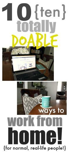 The dream of being able to work at home can be easier to achieve than you think! Here are 10 ideas to get you started!