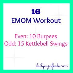 Fitness Friday:16 EMOM Workout