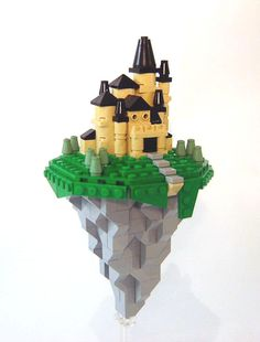 https://flic.kr/p/37ohFy | Micro Flying Citadel | My first Micro attempt =)  There's a micro-castle contest being held on CC, and I am a contest whore