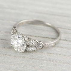 1.63 Carat Vintage Art Deco Engagement Ring | Erstwhile Jewelry Co. $20,000 and it's still dreamy