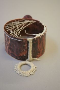 Textile  Metal Jewellery; a collaboration with Alys Power
