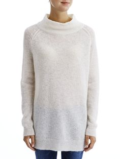KNITTED LONG SLEEVED BLOUSE, Birch