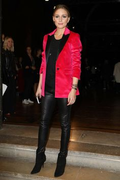 Olivia Palermo attends the Paul Joe show as part of the Paris Fashion Week Womenswear Spring/Summer 2018 on October 3 2017 in Paris France Estilo Olivia Palermo, Olivia Palermo Outfit, Olivia Palermo Lookbook, Olivia Palermo Style, Patent Leather Pants, Fashion Pictures, Fashion Ideas, Fashion Inspiration, Professional Attire