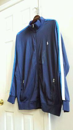 Ralph Lauren Polo Performance Track /Sweat Jacket Navy Blue Size XLT Zip Up  #LaurenRalphLauren #TrackJacket