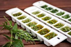 freezing herbs in oil Clean Eating, Food And Drink, Herbs, Plants, Freeze, Oil, Eat Healthy, Healthy Diet Foods, Herb