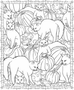 Halloween cat coloring page; Welcome to Dover Publications Dover Coloring Pages, Cat Coloring Page, Halloween Coloring Pages, Printable Coloring Pages, Adult Coloring Pages, Coloring Sheets, Coloring Books, Free Coloring, Dover Publications