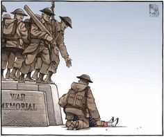 My Heart Just Broke …… From Twitchy: Yesterday, reservist Nathan Cirillo was murdered while guarding Canada's National War Memorial. Today, Halifax Chronicle-Herald cartoonist Bruce MacKinnon paid tribute to Cirillo — in an absolutely gorgeous way. Canadian Soldiers, Canadian Army, Canadian History, Fallen Soldiers, Canadian Bacon, Forget, Unknown Soldier, Remembrance Day, Image Of The Day