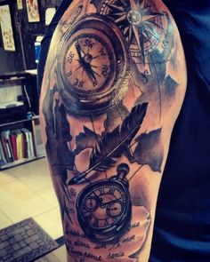 attoo tattoo de hace unas semanas...gracias por no dejarme hacerlo a mi manera jajaja #alemerlostattoo #timetattoostudio #bwtattoo  — en Time Tattoo.