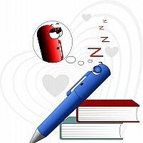 Free Cartoon Pencil And Books Illustration