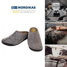 Nordikas Terra Fieltro Gris. #Nordikas #Lifestyle #Grey #Piel #Calzadodehogar #Trend #MadeInSpain #FW1415