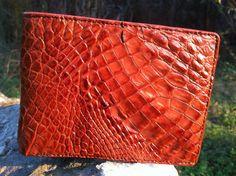 Stunning crocodile skin wallet