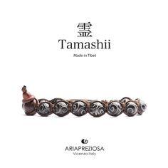 Tamashii - Bracciale Tradizionale Tibetano realizzato con pietre naturali GIADA NERA