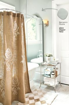 bathroom decorating ideas burlap shower