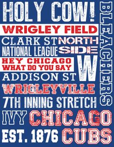 Chicago Cubs Subway Art by 515DesignStudio on Etsy, $20.00