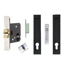 Verve Sliding Door Lock – Matte Black