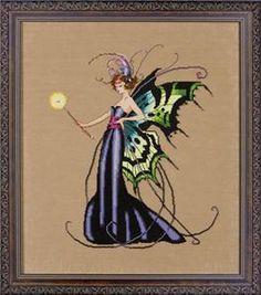 August Peridot Fairy Cross Stitch Pattern (MD122) Embroidery Patterns by Mirabilia Designs