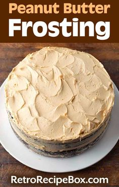 Peanut Butter Frosting is creamy and delicious. The perfect topping for a cake or to frost cupcakes. This easy frosting recipe tastes yummy! Homemade Frosting Recipes, Canned Frosting, Peanut Butter Frosting, Icing Recipe, Cupcake Recipes, Cookie Recipes, Dessert Recipes, Recipe Box, Dessert Ideas