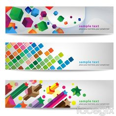 Creative HD graphical banners vector templates
