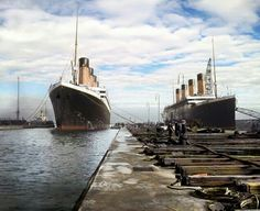 RMS Olympic and Titanic