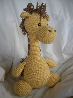 One of my favorite crafters...Girard the Giraffe  Amigurumi Crochet PATTERN ONLY by daveydreamer