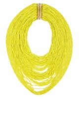 bcbgmaxazria seed-bead necklace. in neon yellow.