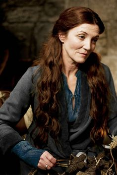 """ accurate house colors: Catelyn Tully-Stark "" ""Catelyn had been anointed with the seven oils and named in the rainbow of light that filled the sept of Riverrun."" - AGoT, Catelyn I"