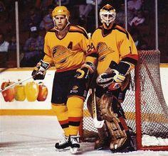 Larry Melnyk & Kirk Mclean - Vancouver 1989