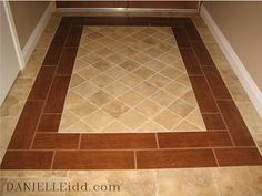 Tile that looks like wood. AWESOME!