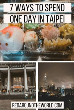 If you have a long layover in Taipei, there are plenty of ways to fill your day. Here are seven perfect one day itineraries for one day in Taipei. South Korea Travel, Taiwan Travel, China Travel, Taiwan Night Market, Taiwan Food, Taipei Taiwan, Solo Travel, Travel Tips, Bryce Canyon
