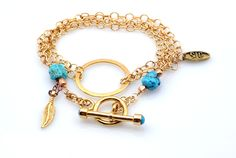 The Amy bracelet  #handmadejewelry #design #jewelry #ethnic #delicatejewelry  #turquoise #goldfilled  #summer #turquoise