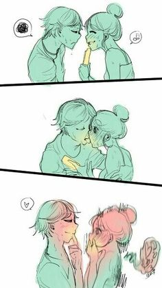 Adrian And Marinette, Marinette And Adrien, Miraclous Ladybug, Ladybug Comics, Miraculous Ladybug Kiss, Cat Noir, Cartoon Shows, Cute Anime Couples, Chibi