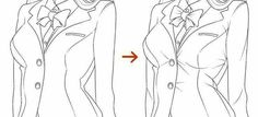 Dessin manga veste plis