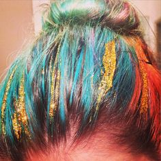 how to make your own hair glitter here