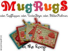 Stickmuster - Stickdateien IN THE HOOP ✿ MugRugS ✿ - ein Designerstück von ginihouse3 bei DaWanda